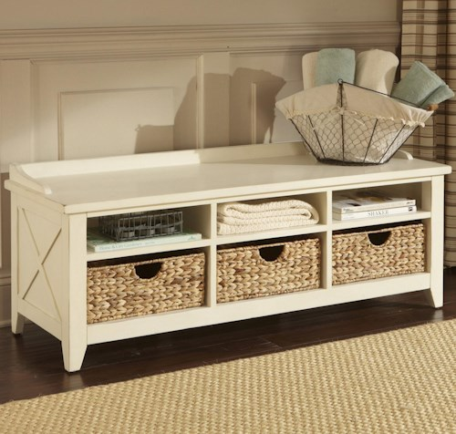 Liberty Furniture Hearthstone Cubby Storage Entryway Bench