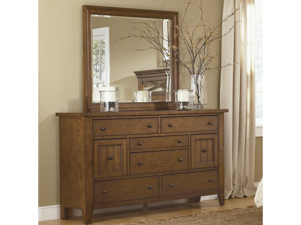 Liberty Furniture HearthstoneDresser & Mirror