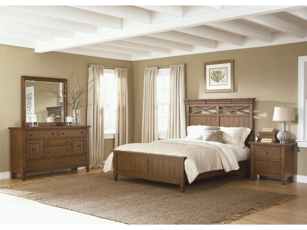 Shown with Nightstand, Dresser and Mirror