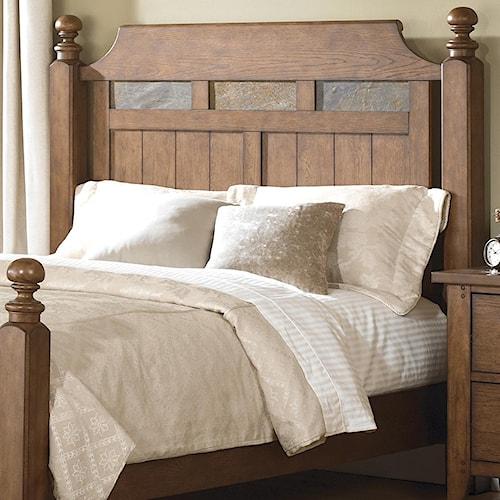 Liberty Furniture Hearthstone King Poster Headboard with Decorative Slate Inlay