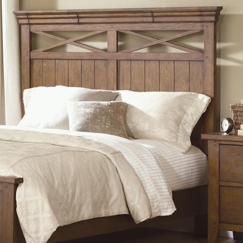 Liberty Furniture Bunker Hill King Panel Headboard with Planked Accents