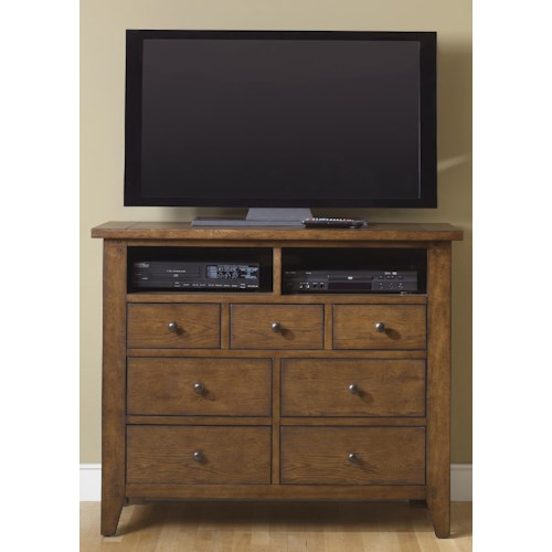 Liberty Furniture Bunker Hill Seven-Drawer Media Chest