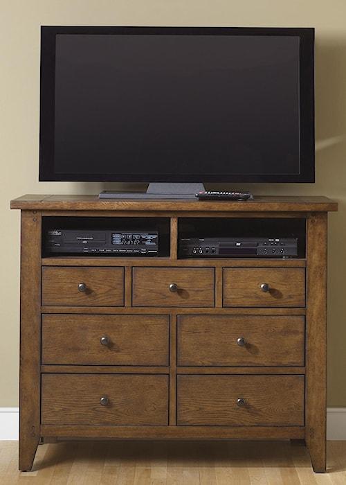 Liberty Furniture Hearthstone Seven-Drawer Media Chest