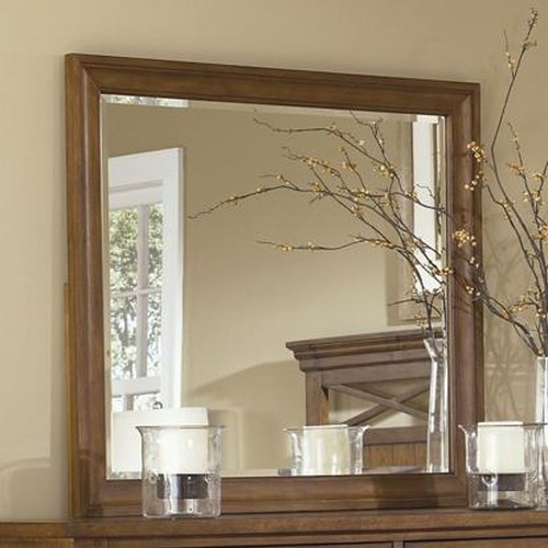 Liberty Furniture Bunker Hill Landscape Dresser Mirror with Beveled Edge