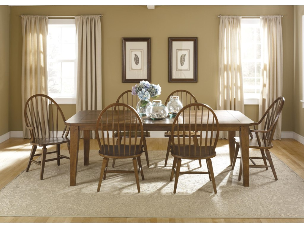 Shown with Rectangular Leg Dining Table and Windsor Arm Chair