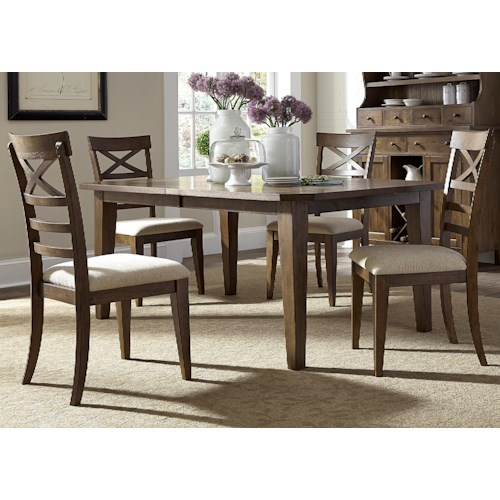 Liberty Furniture Hearthstone Mission Style 5 Piece Rectangular Table Set