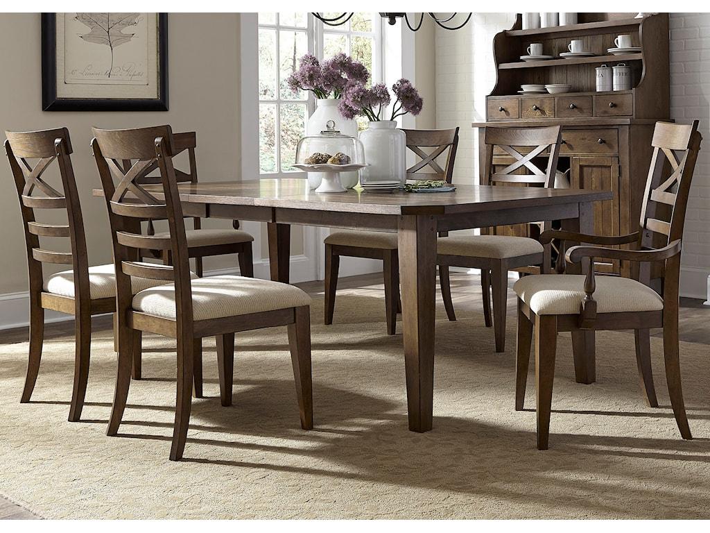 Liberty Furniture HearthstoneOpt 7 Piece Rectangular Table Set