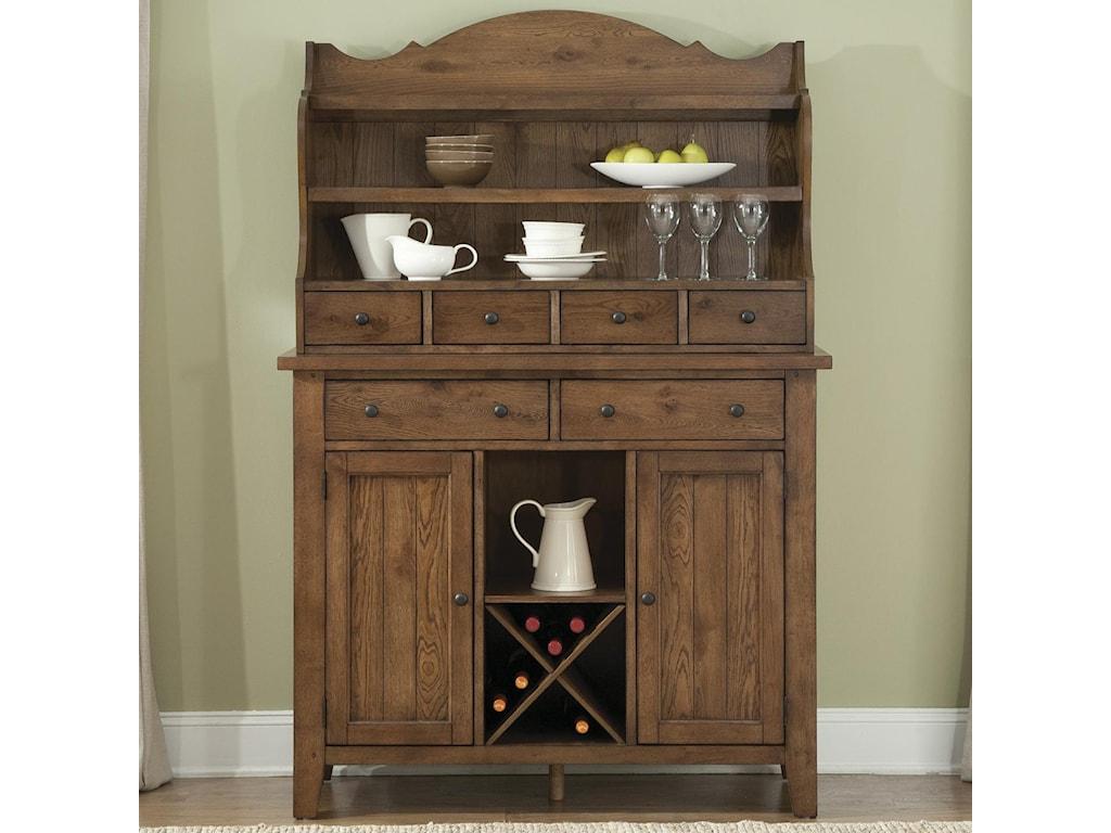 Liberty Furniture HearthstoneServer & Hutch