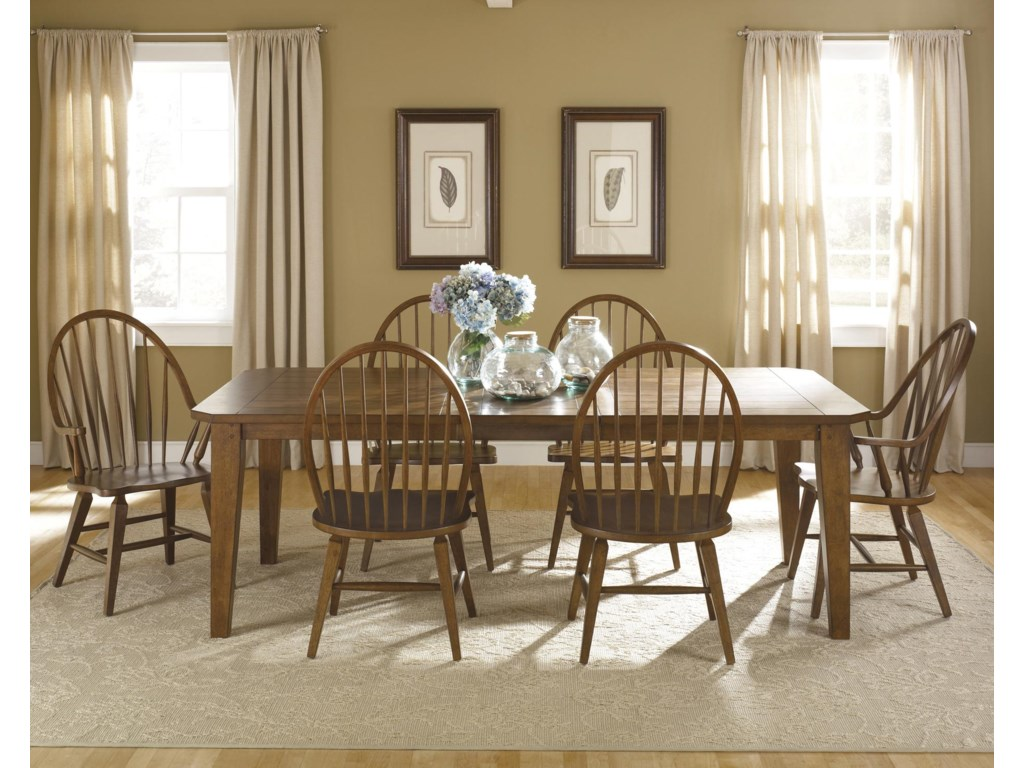 Liberty Furniture Hearthstone7-Piece Rectangular Table Set
