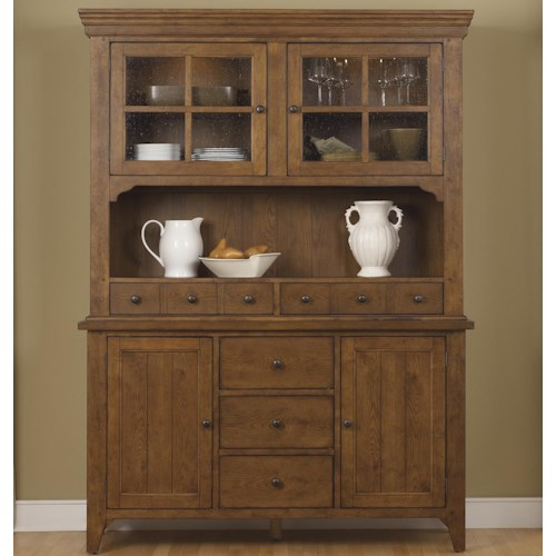 Liberty Furniture Hearthstone Mission Style Buffet with China Hutch