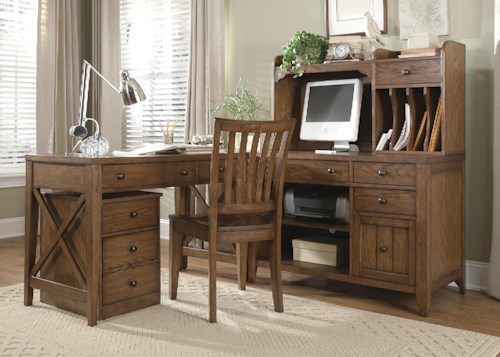 Liberty Furniture Hearthstone 4 Piece L-Shaped Desk