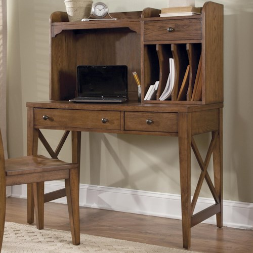 Liberty Furniture Hearthstone Writing Desk with Hutch