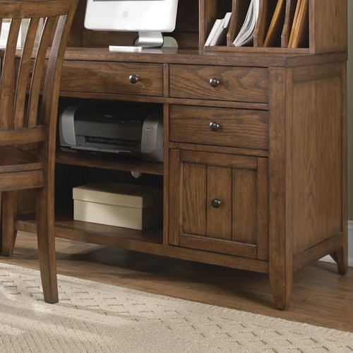 Liberty Furniture Hearthstone Computer Credenza with Shelves and Drawers