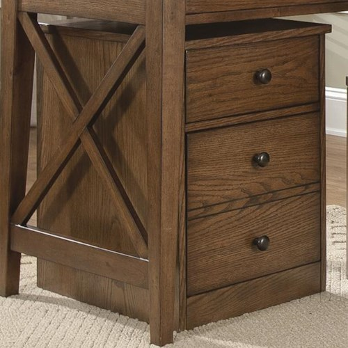 Liberty Furniture Bunker Hill Mobile File Cabinet with Two Drawers and Door Locks