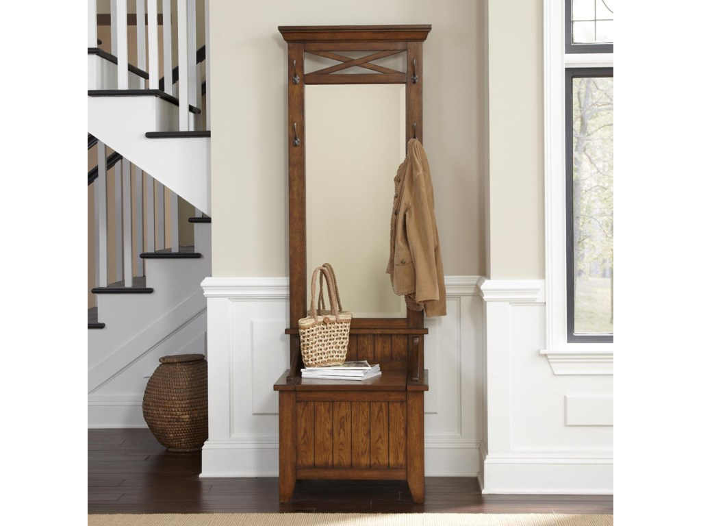 Hearthstone Entryway Hall Tree With Mirror And Bench By Liberty Furniture