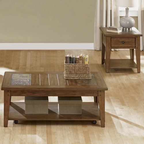 Liberty Furniture Hearthstone Occasional Set with Cocktail Table and Two End Tables