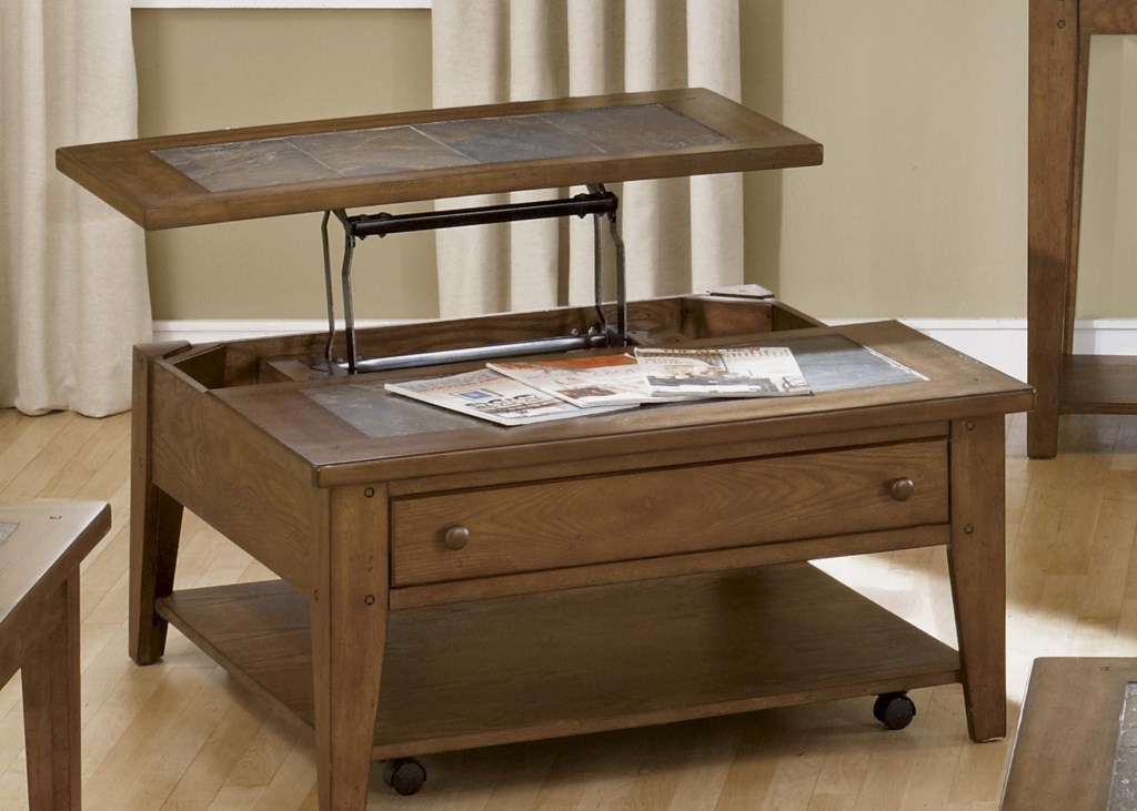 Liberty Furniture Hearthstone Lift Top Cocktail Table with Single