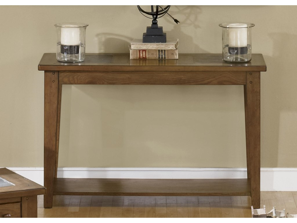 Liberty furniture hearthstone sofa table with slate top royal liberty furniture hearthstonesofa table watchthetrailerfo