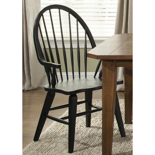 Liberty Furniture Bunker Hill Windsor Back Arm Chair