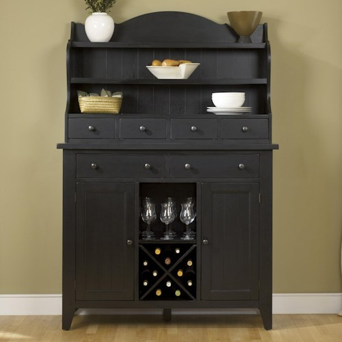 Liberty Furniture Bunker Hill Country Style Server and Display Hutch