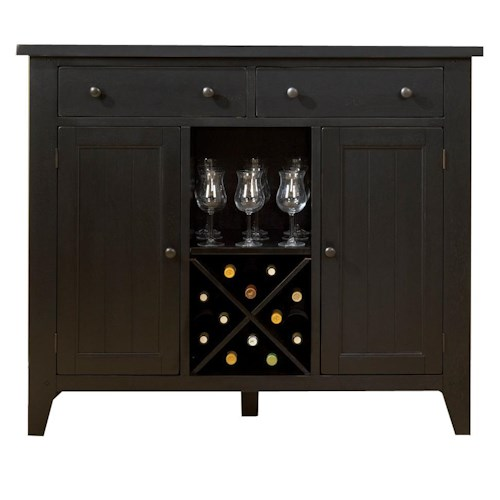 Liberty Furniture Hearthstone Country Style Server with Wine Storage