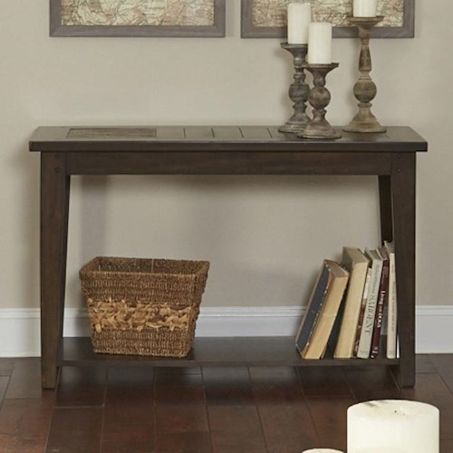 Liberty Furniture Hearthstone Sofa Table with Slate Top