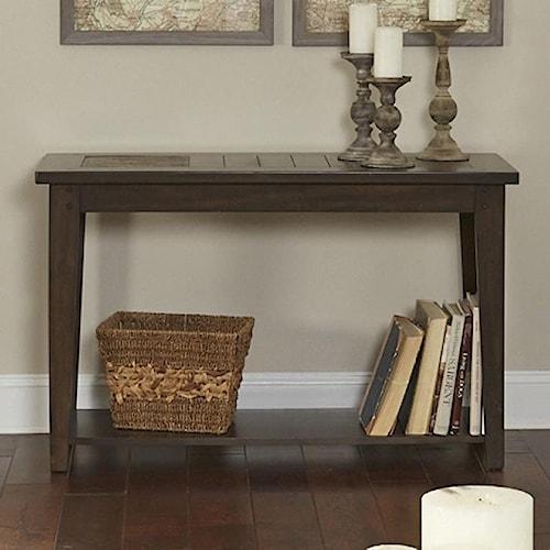 Liberty Furniture Hearthstone Sofa Table with Slate Top