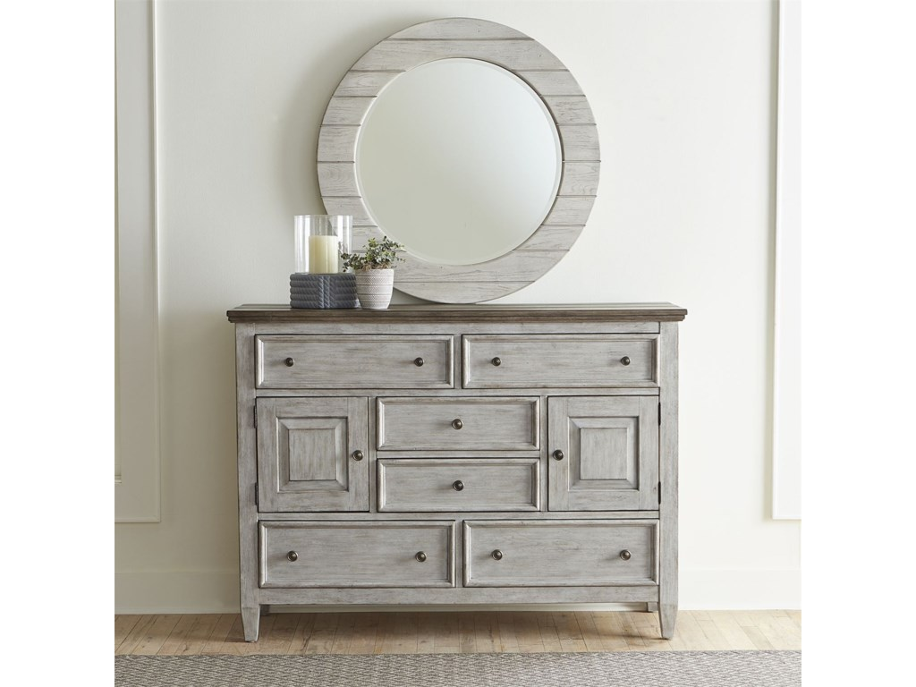 Liberty Furniture HeartlandDresser and Mirror