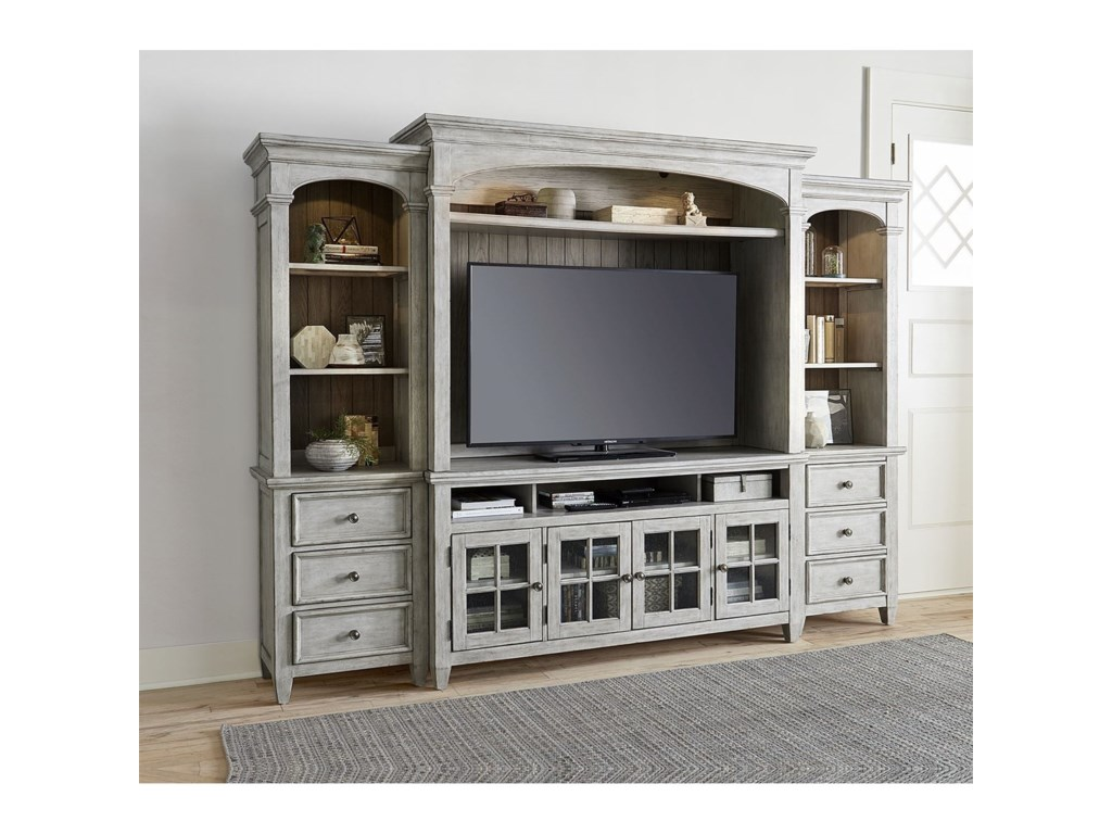 Liberty Furniture HeartlandEntertainment Center with Piers
