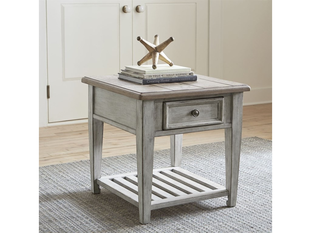 Liberty Furniture HeartlandDrawer End Table