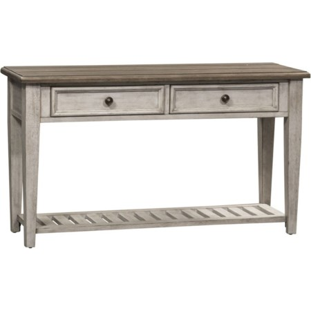 2 Drawer Sofa Table