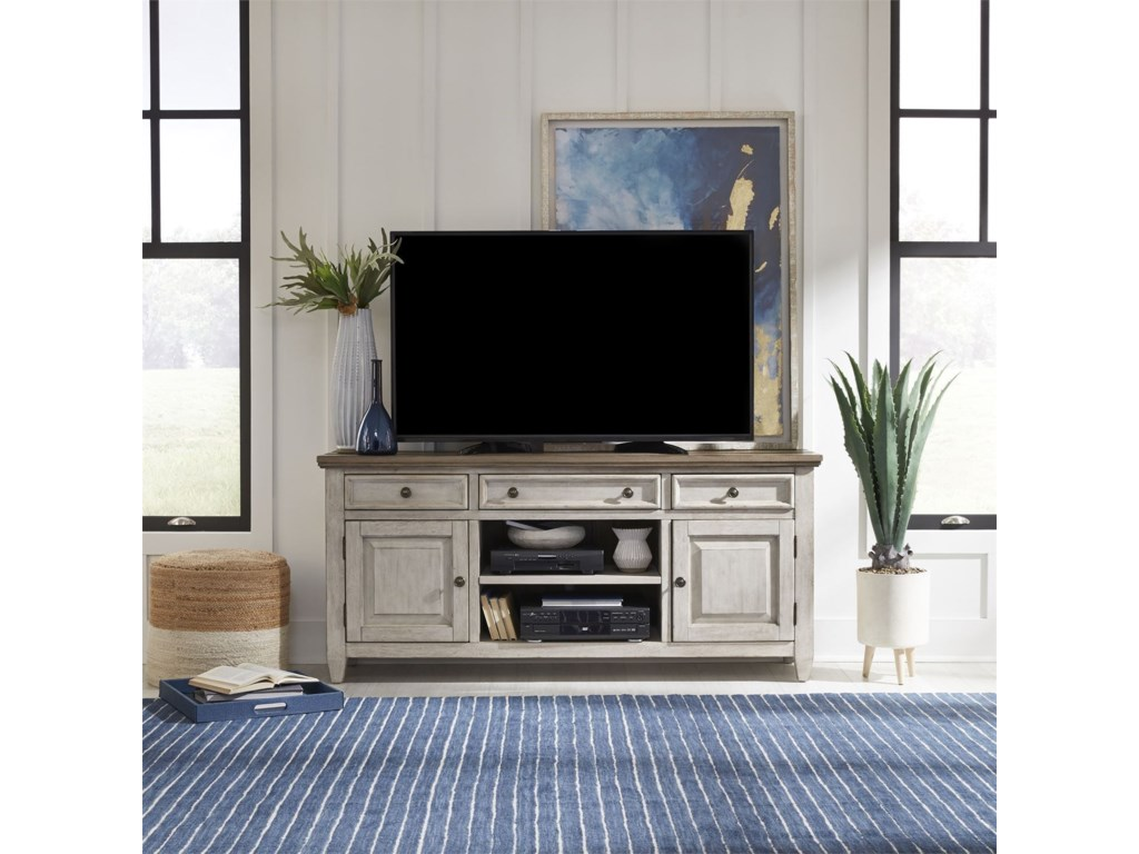 Liberty Furniture Heartland66 Inch Tile TV Console