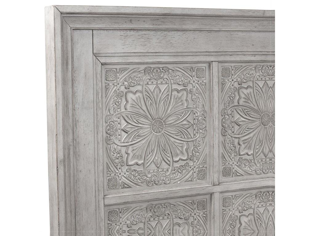 Liberty Furniture HeartlandKing Panel Bed, Dresser, Mirror & Nightstand