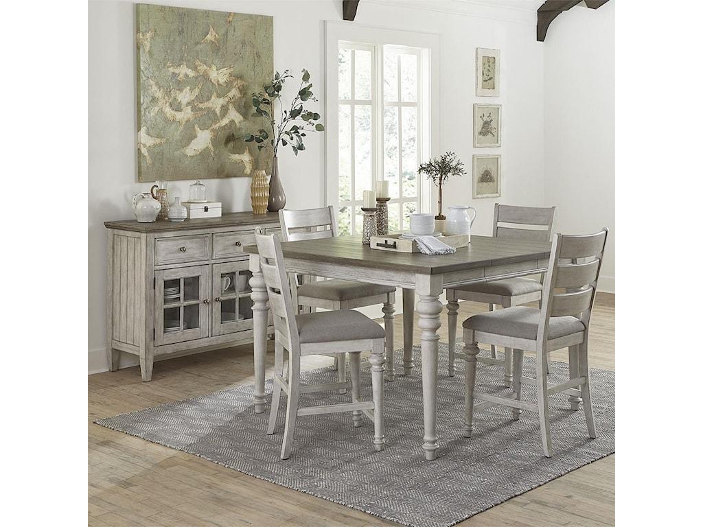 Liberty Furniture HeartlandGathering Height Table & 6 Chair Set
