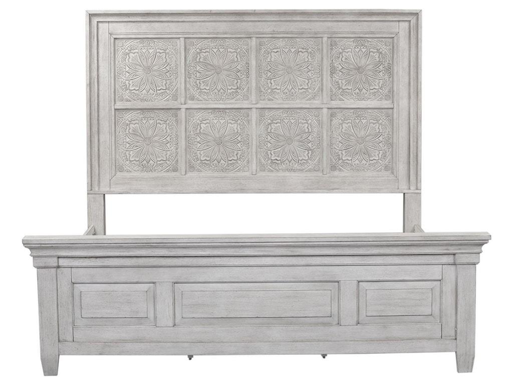 Liberty Furniture HeartlandQueen Panel Bed, Dresser, Mirror & Nightstan