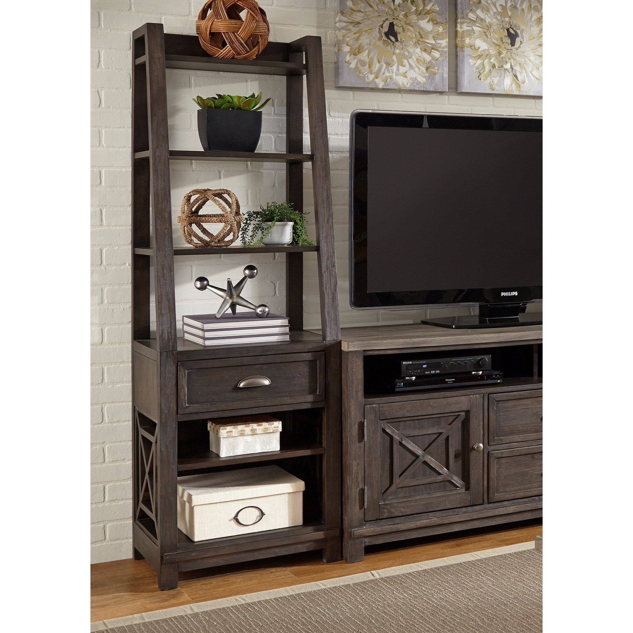 Transitional Pier Unit with Dovetail Drawer