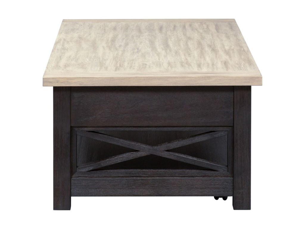 Liberty Furniture Heatherbrook OccasionalLift Top Cocktail Table