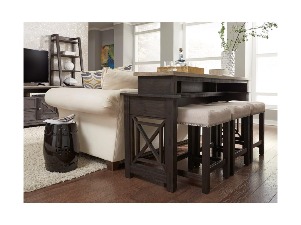 Console Table With Stools ~ Sofa bar table trendy design behind the