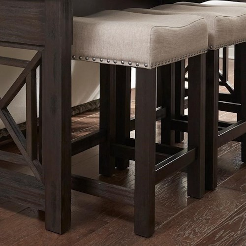 liberty furniture heatherbrook occasional upholstered barstool with