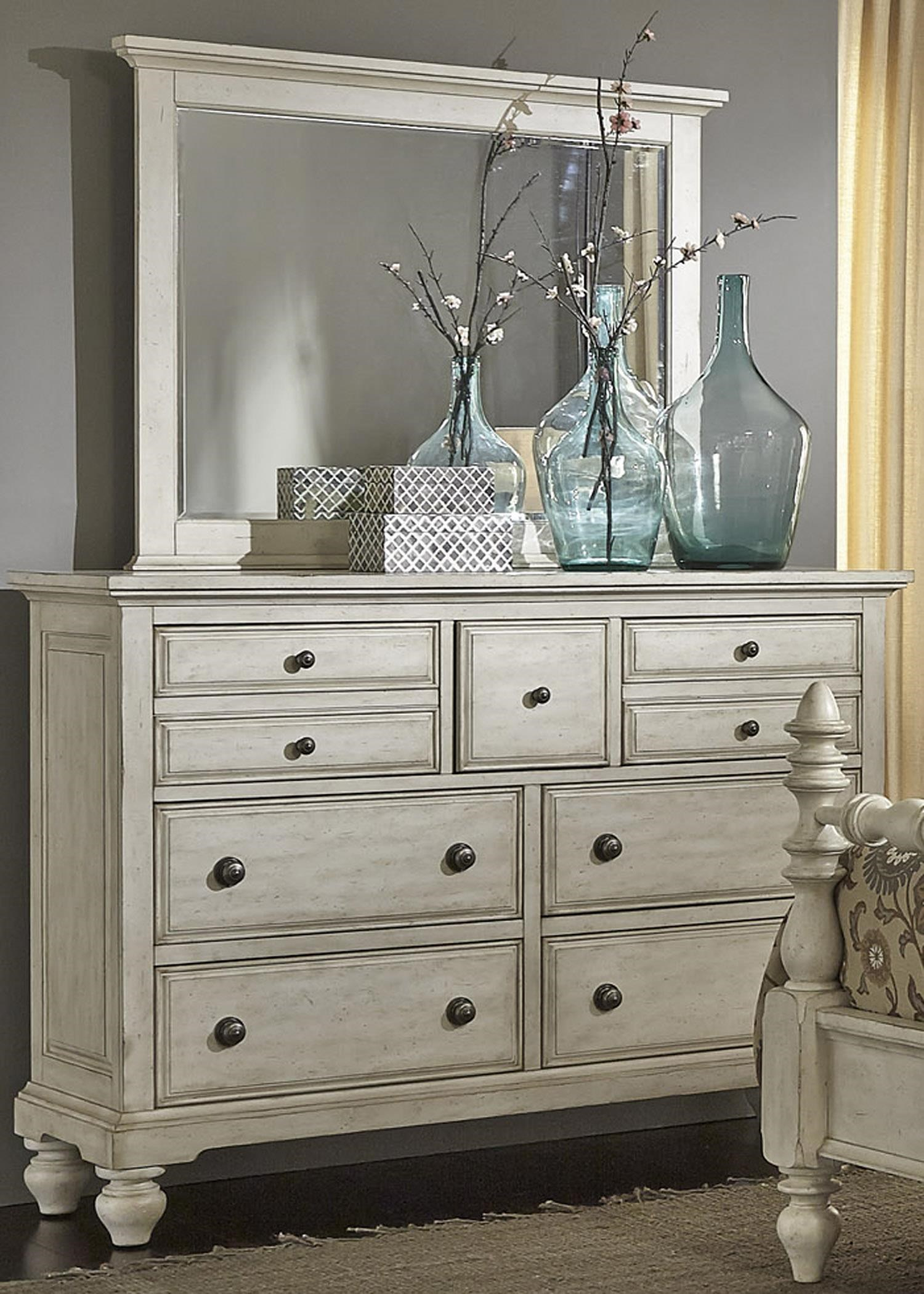 Liberty Furniture 697 BR Transitional 7 Drawer Chesser And Mirror
