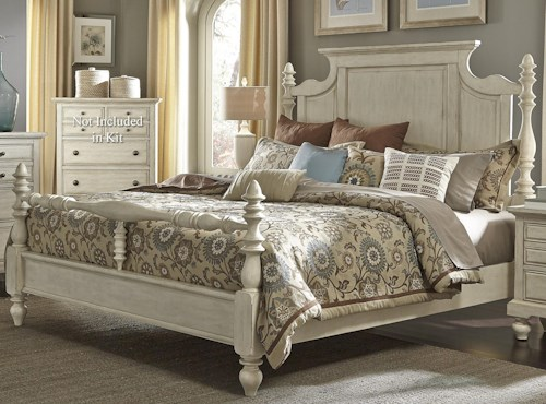 Liberty Furniture 697-BR Transitional Queen Poster Bed
