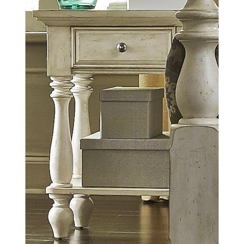 Liberty Furniture 697-BR Transitional Chair Side Night Stand with 1 Drawer