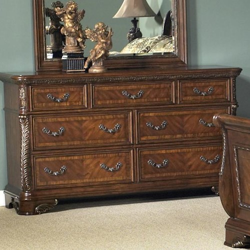 Liberty Furniture Highland Court Traditional Seven Drawer Dresser