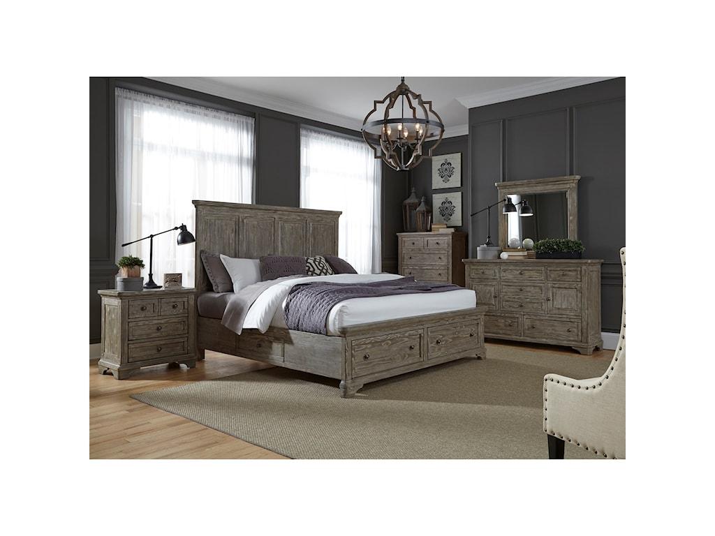 Liberty Furniture HighlandsKing Two Sided Storage Bed
