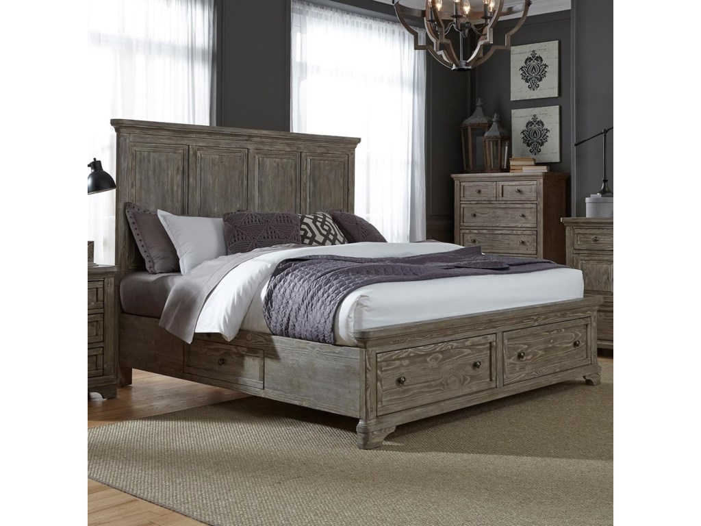 Liberty Furniture HighlandsKing Two Sided Storage Bed