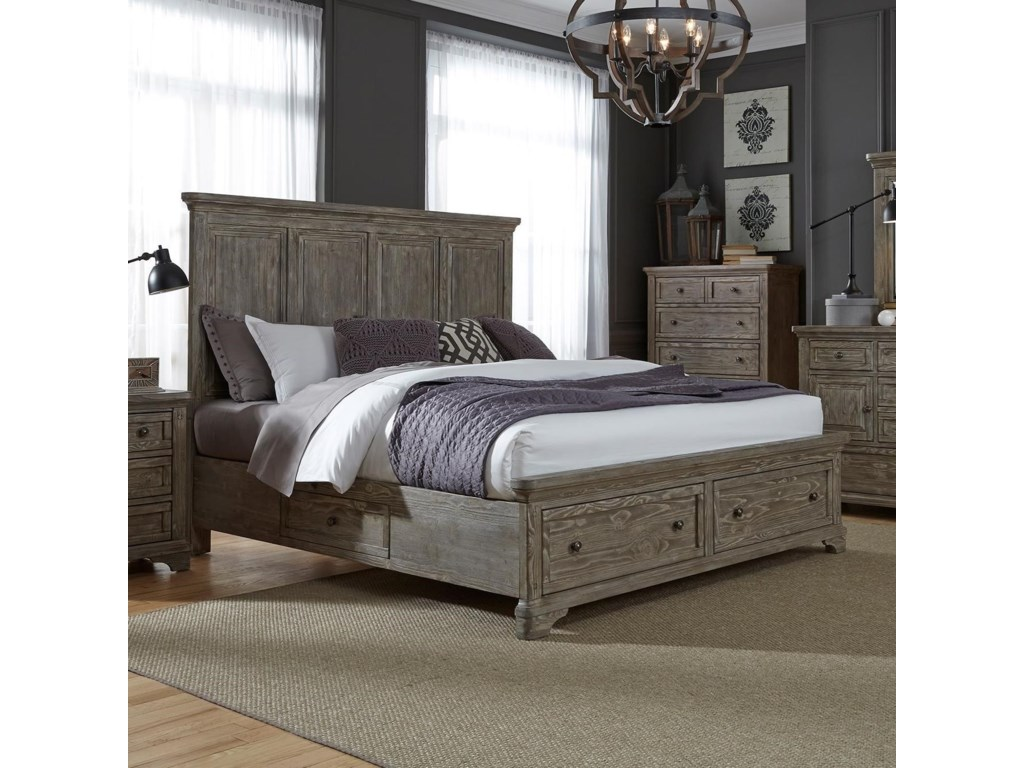 Liberty Furniture HighlandsQueen Two Sided Storage Bed