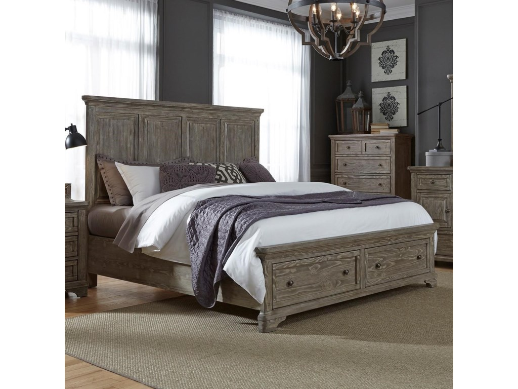 Liberty Furniture HighlandsQueen Storage Bed
