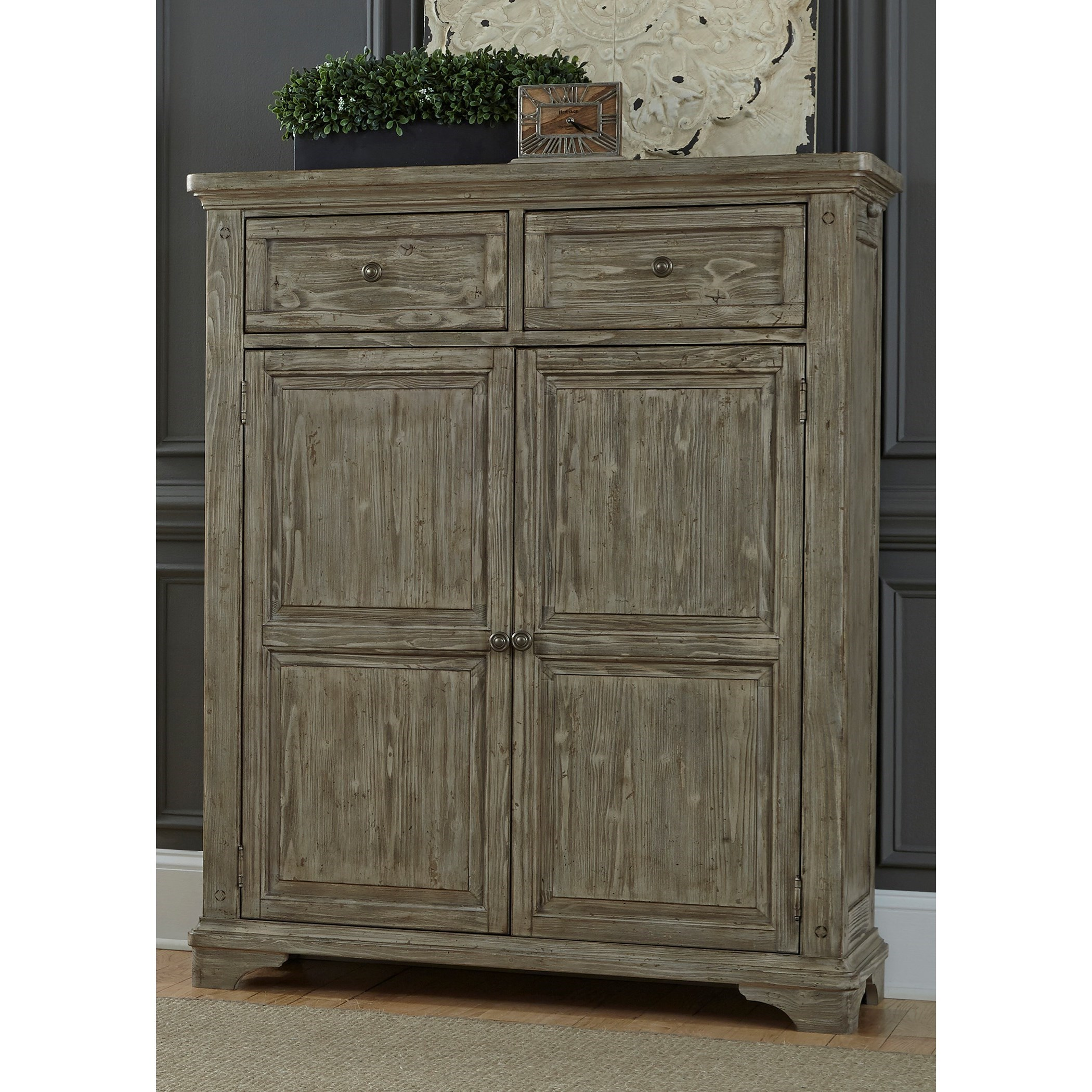 Liberty Furniture Highlands Door Chest with 2 Drawers & Liberty Furniture Highlands Door Chest with 2 Drawers | Howell ...