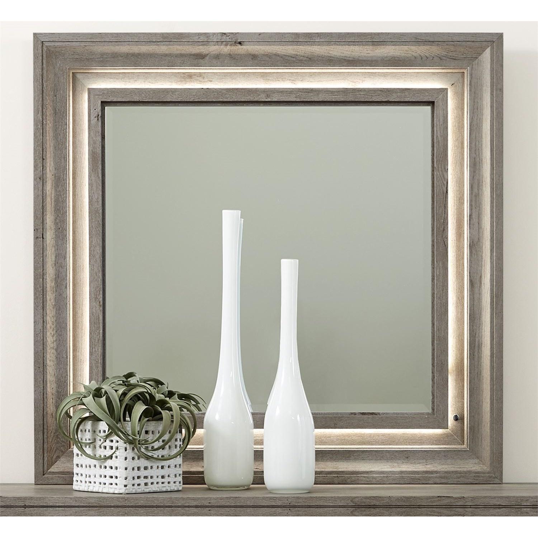 Contemporary Lighted Dresser Mirror