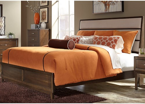 Liberty Furniture Hudson Square Bedroom King Panel Bed with Upholstered Headboard